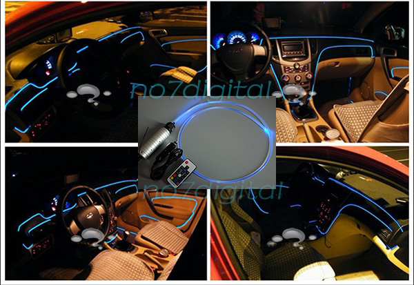 diy fiber optic light source car interior lighting 12v atmosphere lamp 7colors 769700341706 ebay. Black Bedroom Furniture Sets. Home Design Ideas