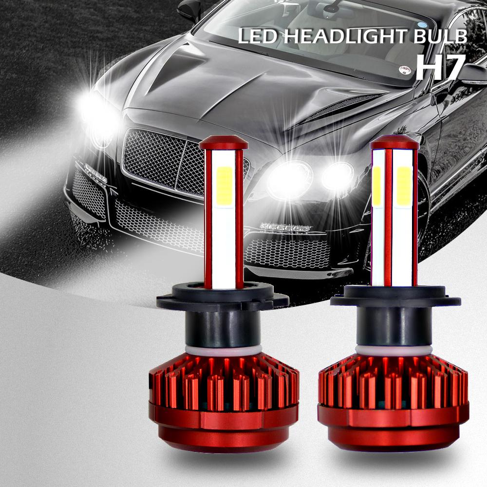 4 side h7 led scheinwerfer licht lampen vorne cars. Black Bedroom Furniture Sets. Home Design Ideas
