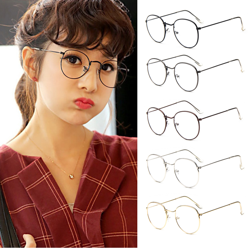 a652caff75 Product Overview. Vintage Women Eye Glasses Frames Plain Mirror Clear Lens  Harajuku Big Metal Oval. Product Details  100% brand new and high quality