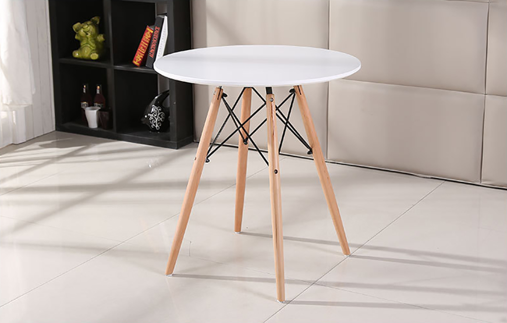 80cm Round Dining Table Study Desk Wood Legs Office Coffee