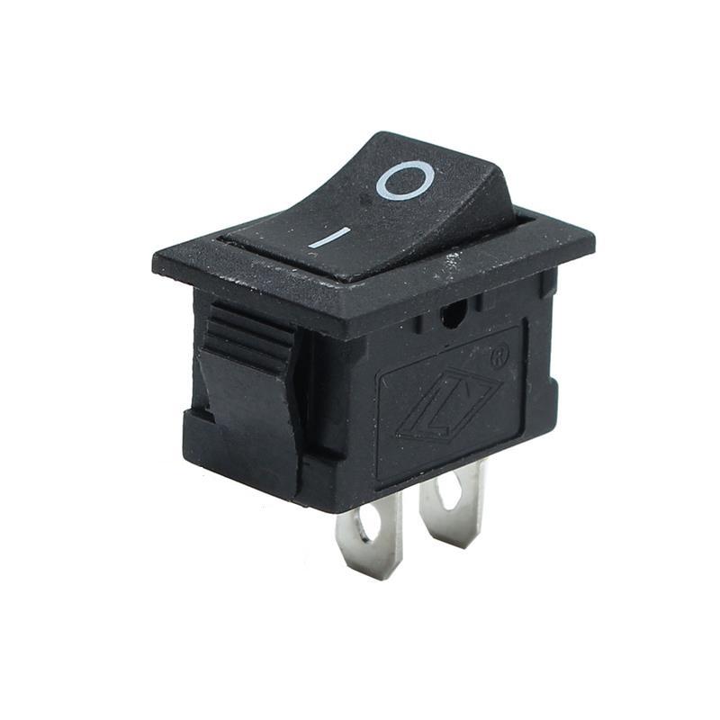PC-Wippschalter 21 * 15mm KCD1-101 6A 250V Black 2 Pin MOZ   eBay