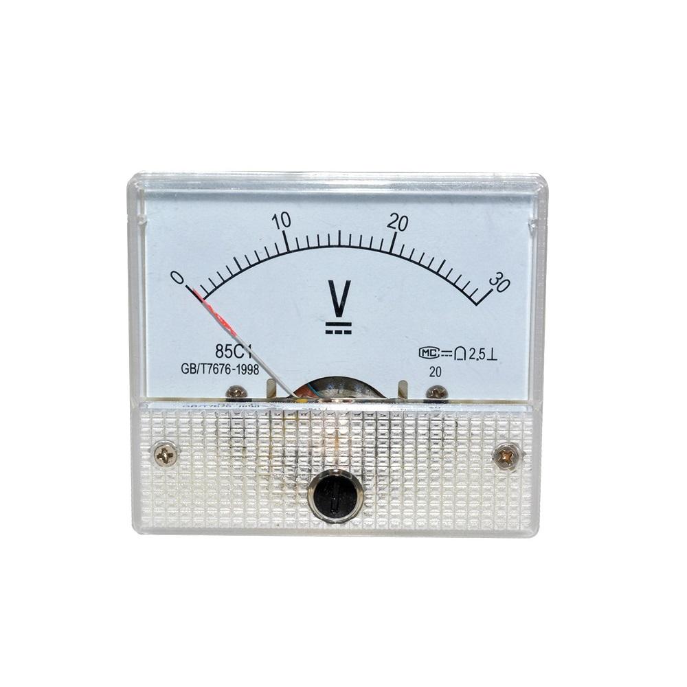 5 Volt Analog Meter : Dc v analog panel volt voltage meter voltmeter gauge