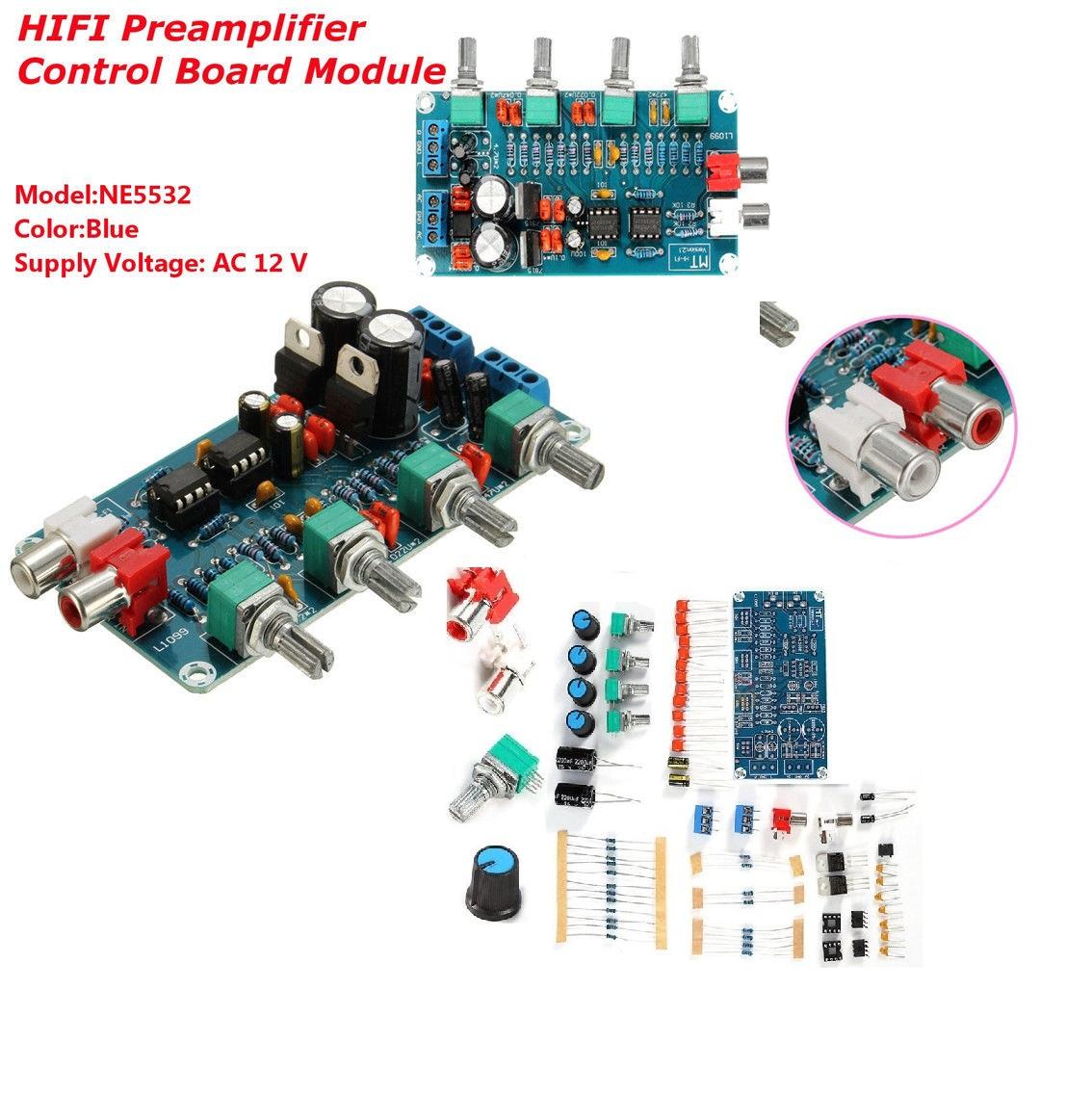 Ne5532 Hifi Op Amp Amplifier Preamplifier Volume Tone Eq Control Circuit For Guitar Using 741 Board Diy Kits
