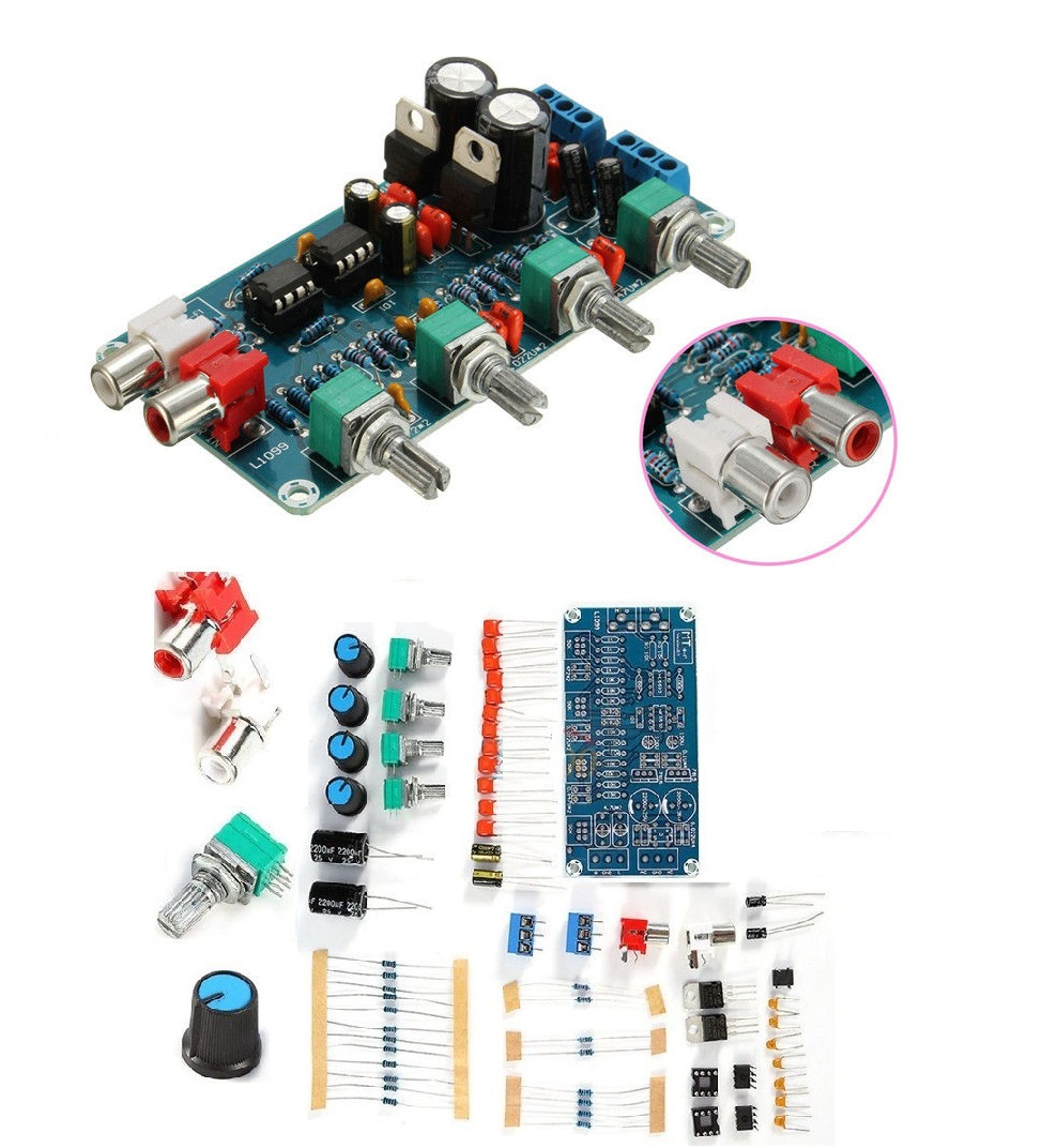 Diy Kits Ne5532 Hifi Op Amp Amplifier Preamplifier Volume Tone Eq Control Circuit For Guitar Using 741 Board