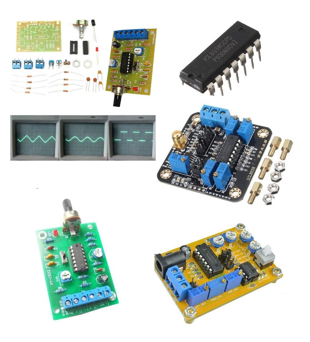 Icl8038 Dc 12v 25v Dds Signal Generator Module Ic Diy Sine Square Triangular Wave Circuit 2pcs