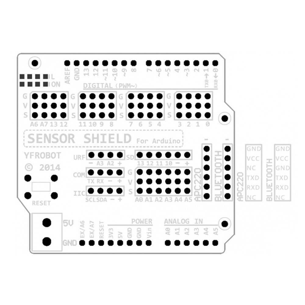 v5 sensor shield expansion board shield for arduino uno r3