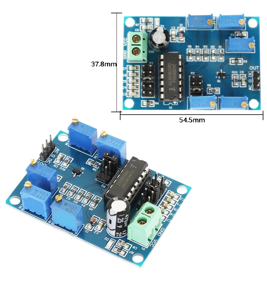 Details about ICL8038 Medium/Low Frequency Waveform Signal Generator Sine  Wave Signal Source M
