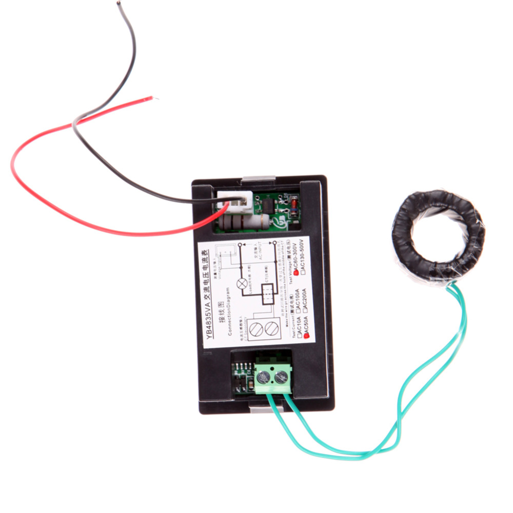 Digital Ammeter Voltmeter Lcd Panel Amp Volt Meter Gauge Ac 100a 80 Wire Diagram Current Measuring Range 01 In Excess Of 1a Is Recommended