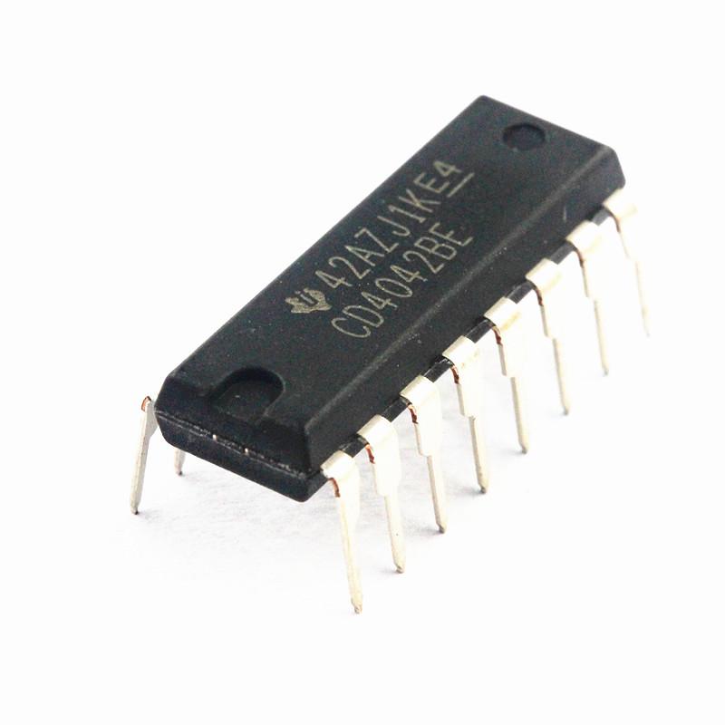 5 Pcs NEW CD4042 CD4042BE CMOS Quadruple Clocked D Latch DIP-16