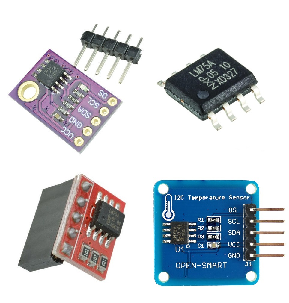 LM75A Temperature Sensor I2C Interface Breakout Board Module