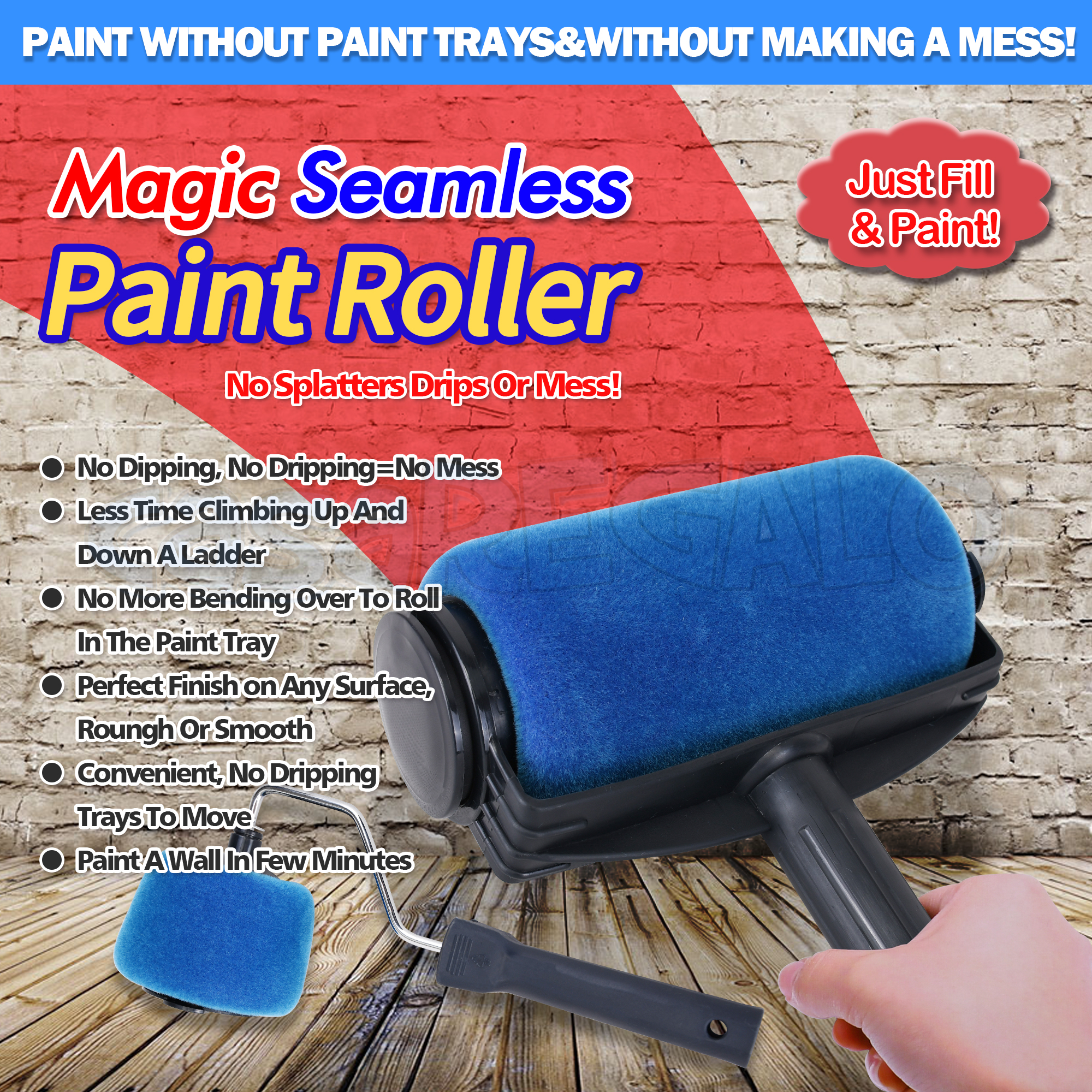 paint roller kit painting roller runner pintar facil decor pro as seen on tv 9318112801325 ebay. Black Bedroom Furniture Sets. Home Design Ideas