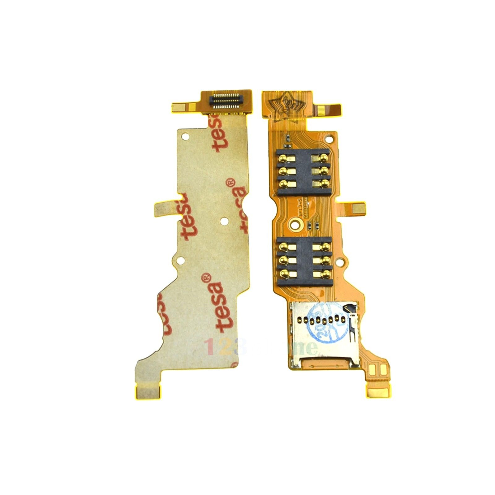 Details about SIM + SD CARD READER HOLDER TRAY FLEX CABLE FOR HUAWEI ASCEND  Y530