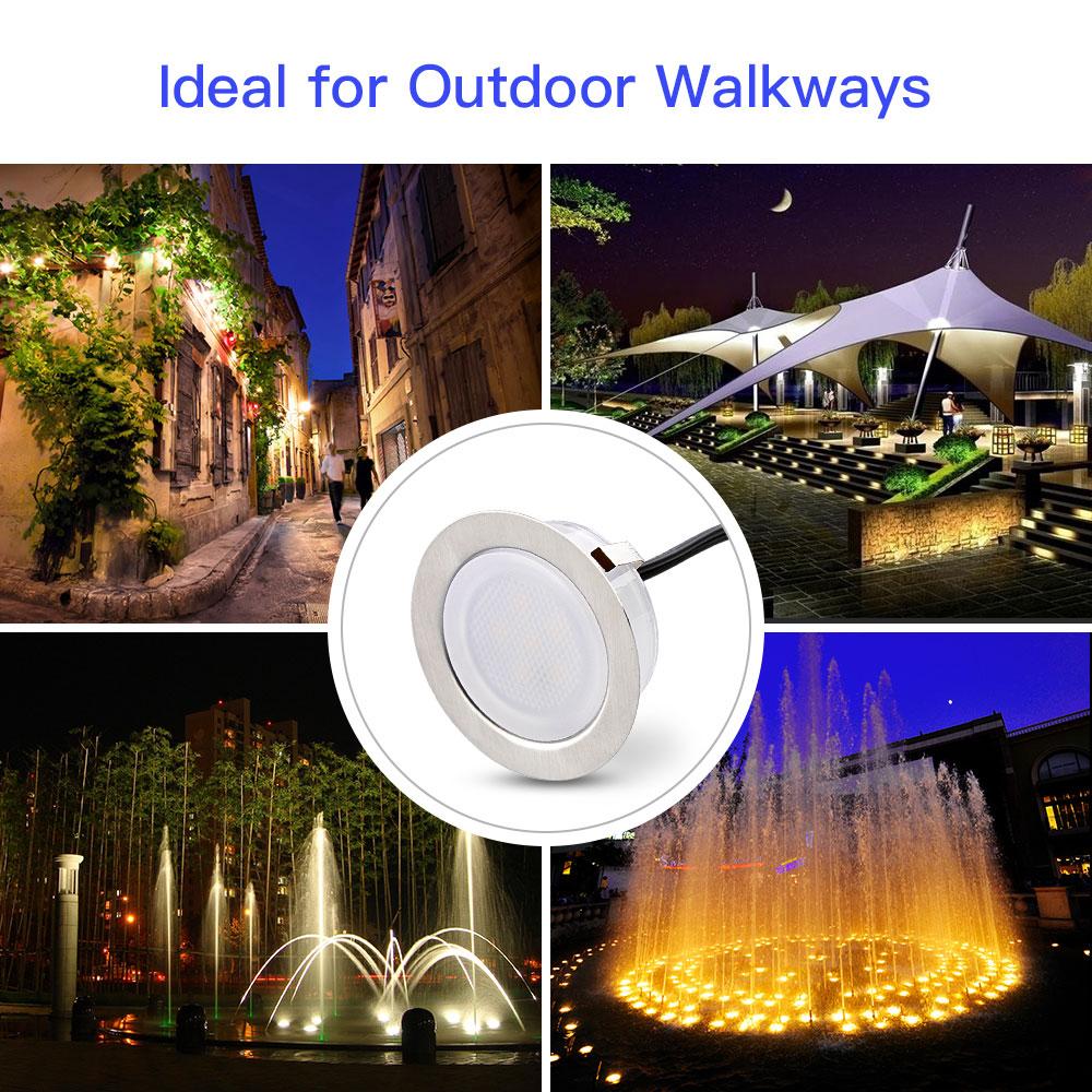 Led Kitchen Garden: 8x Recessed LED Bulbs Deck Light Kitchen Garden Outdoor