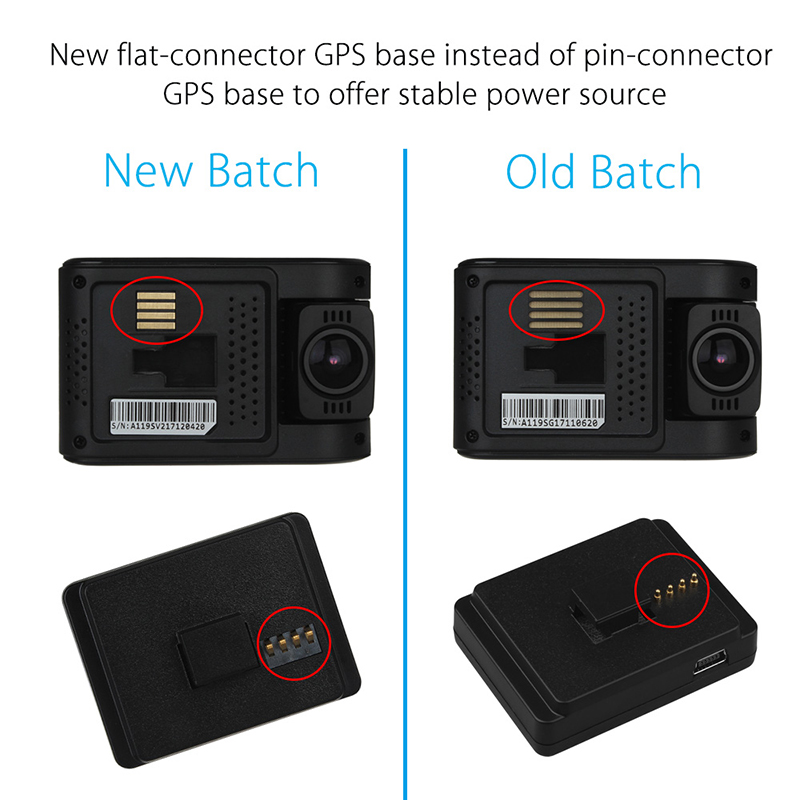 Dashcams GPS Module with 3M Sticker Mount For VIOFO Capacitor A119 ...