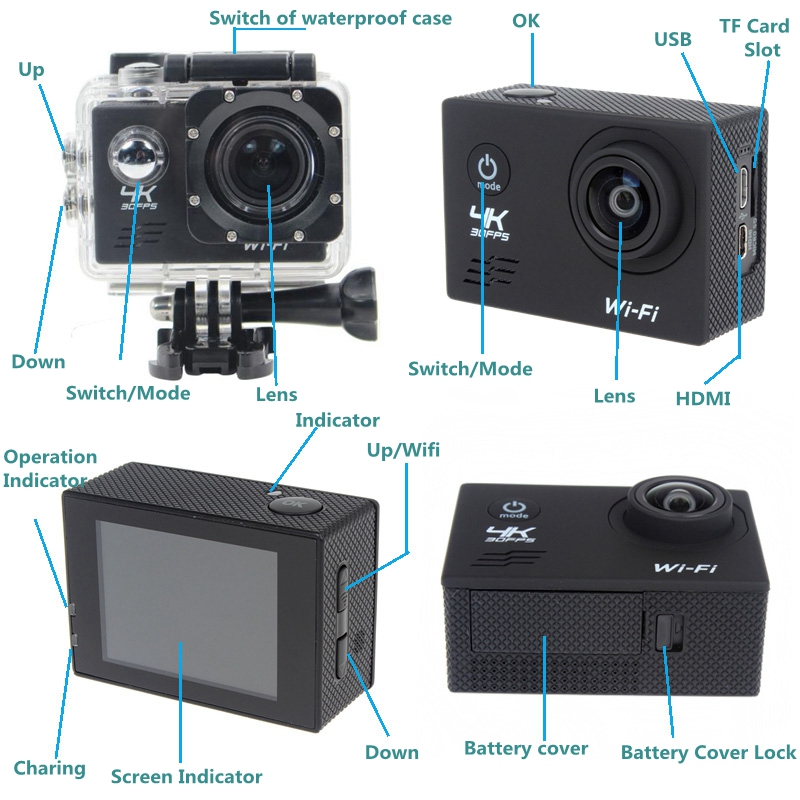 sj8000 4k ultra hd wi fi sports waterproof action camera sony imx179 bike cam ebay. Black Bedroom Furniture Sets. Home Design Ideas