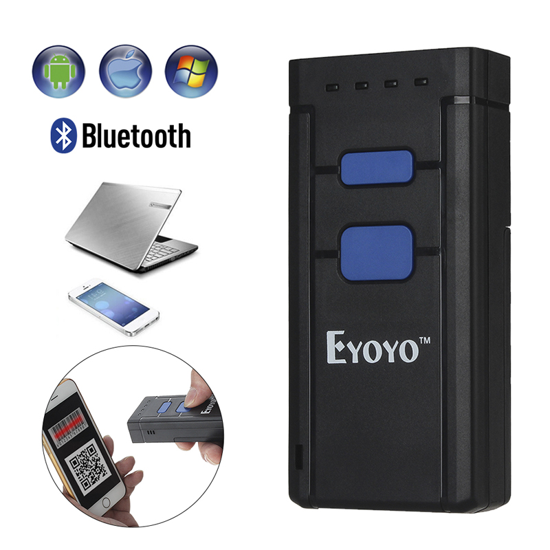 eyoyo portable 1d bluetooth wireless barcode scanner for