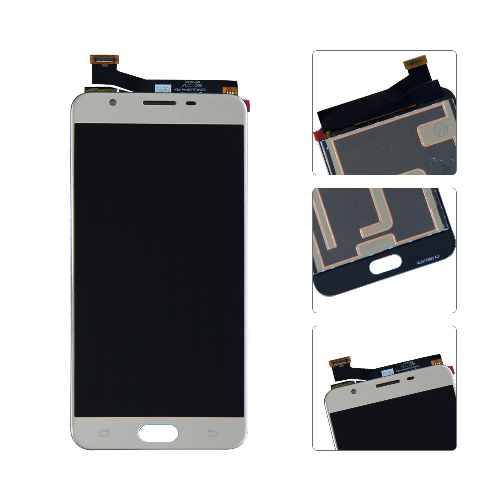 Usa Lcd Touch Screen Digitizer For Samsung Galaxy J7 Prime G610f On7 White Gold 2016