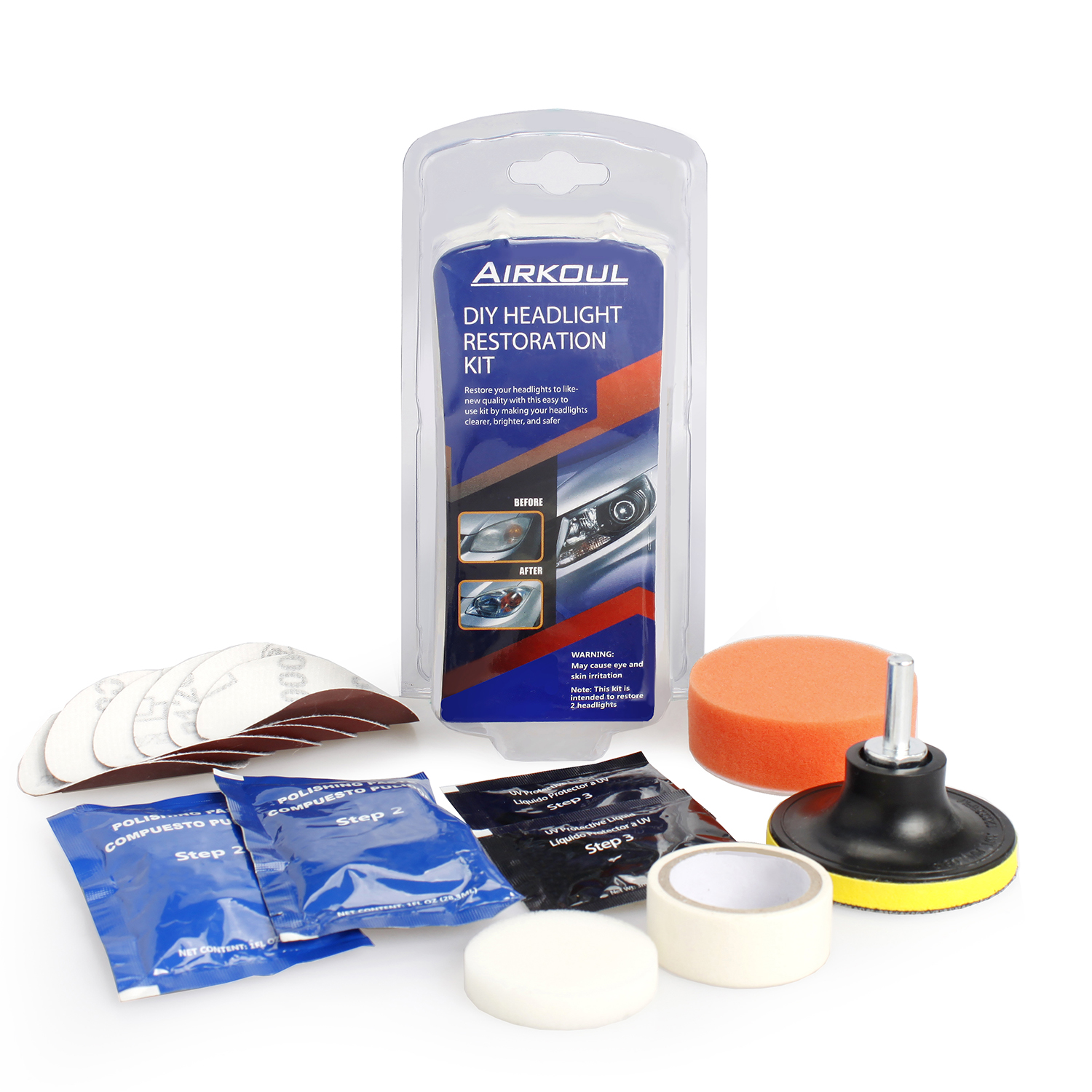 Details about Car Headlight Lens Restoration System Professional Restorer  Polishing Tool Kit