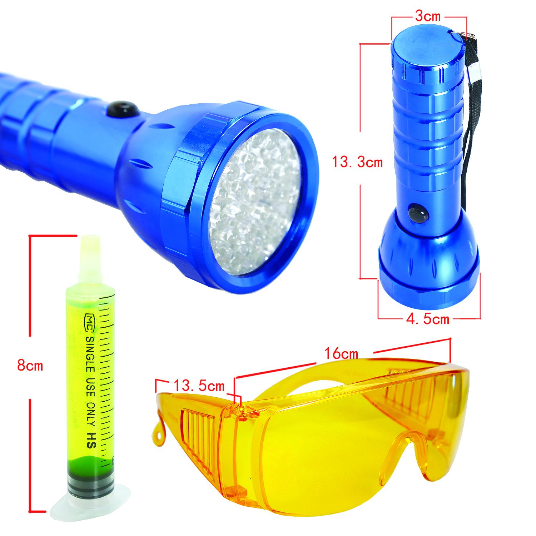Universal Car Ac Tool Leak Detector Dye System Glasses 28
