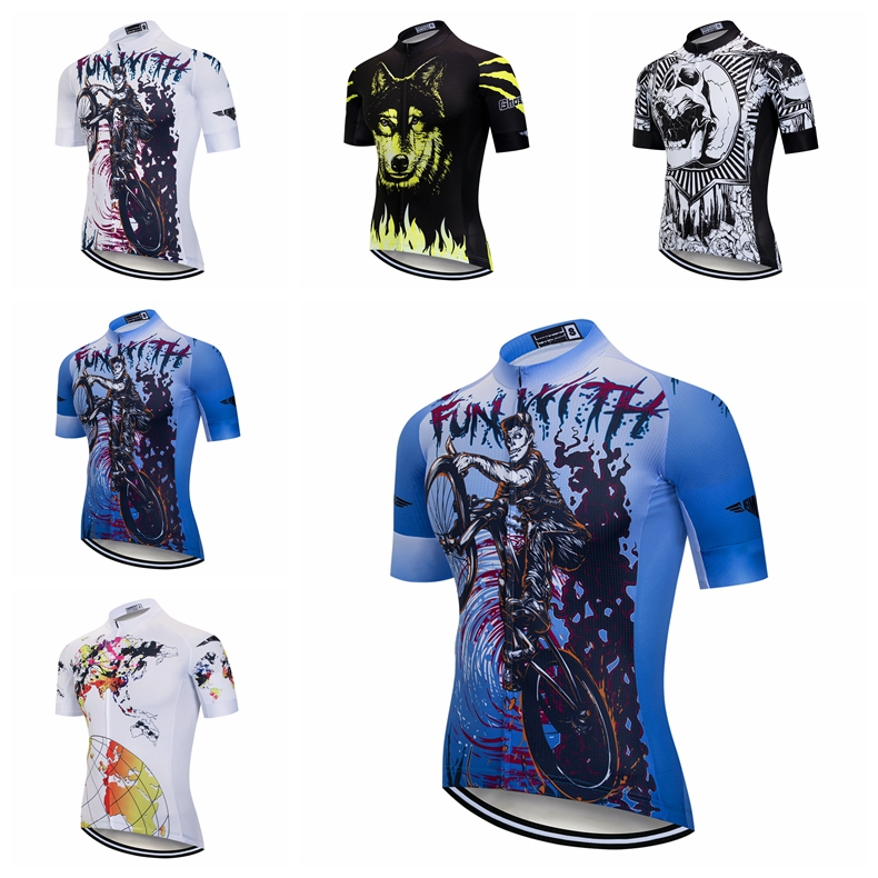 Weimostar Men Cycling Jersey Team Bike Clothing Half Sleeves Bicycle T-shirt