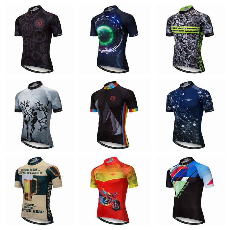Weimostar Cycling Clothing Team Bicycle Shirt  Jersey Top Wear Suit S-3XL