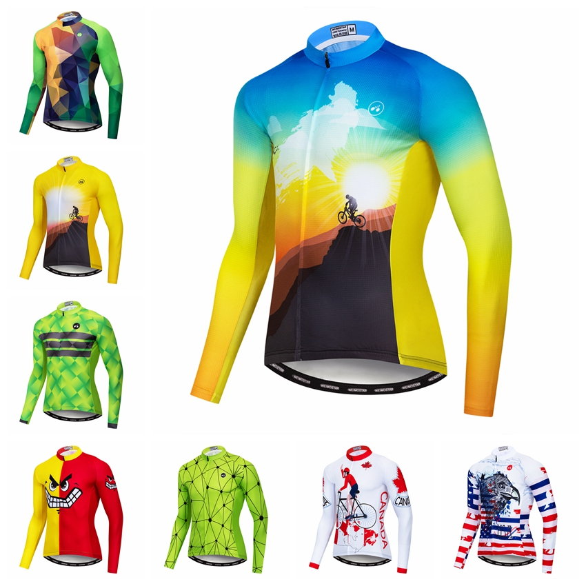 590294ed6 Details about Men Cycling Jersey New MTB Long Sleeve Bike Clothing Bicycle  T-Shirt Sport Tops