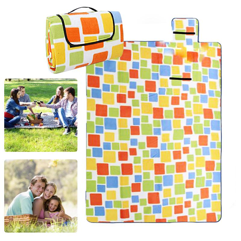 neu 150x200cm flanell picknickdecke camping reisedecke stranddecke magic orange ebay. Black Bedroom Furniture Sets. Home Design Ideas