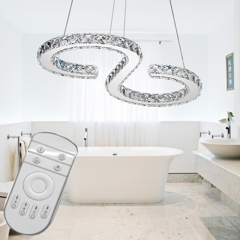 32w dimmbar led kristall deckenlampe h ngelampe pendelleuchte kronleuchter licht ebay. Black Bedroom Furniture Sets. Home Design Ideas