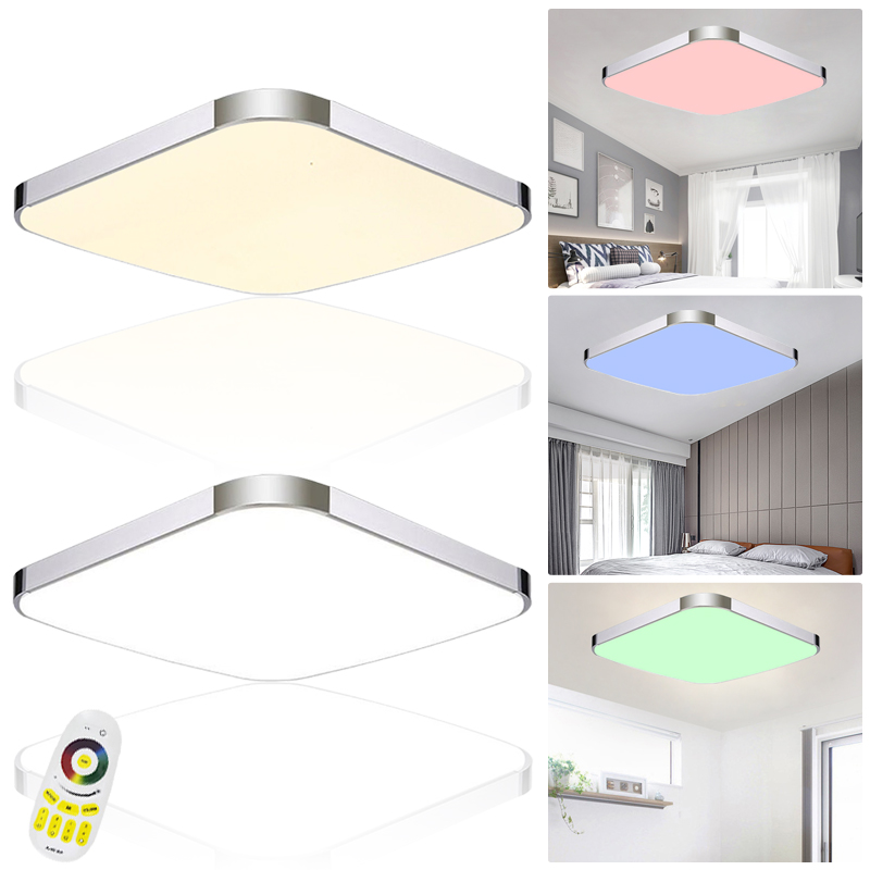 24w panel led rgb dimmbar deckenleuchte deckenlampe wandlampe flurlampe design ebay. Black Bedroom Furniture Sets. Home Design Ideas