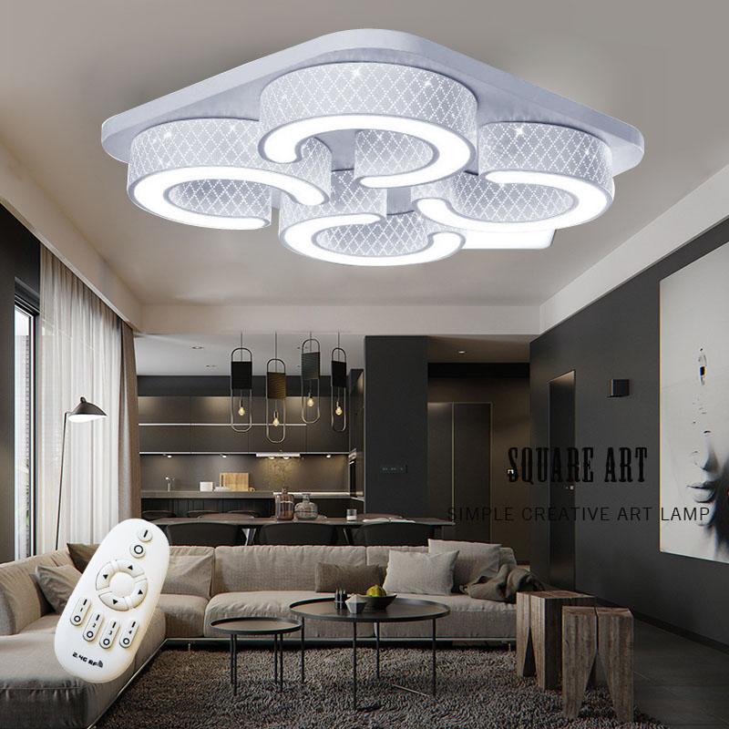 Led dimmbar deckenlampe deckenleuchte wandlampe flurlampe for Moderne deckenlampe wohnzimmer