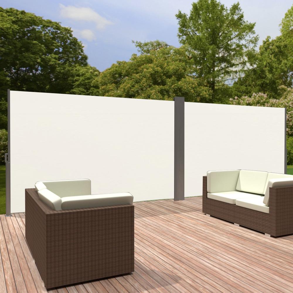 doppel seitenmarkise windschutz sichtschutz sonnenschutz. Black Bedroom Furniture Sets. Home Design Ideas