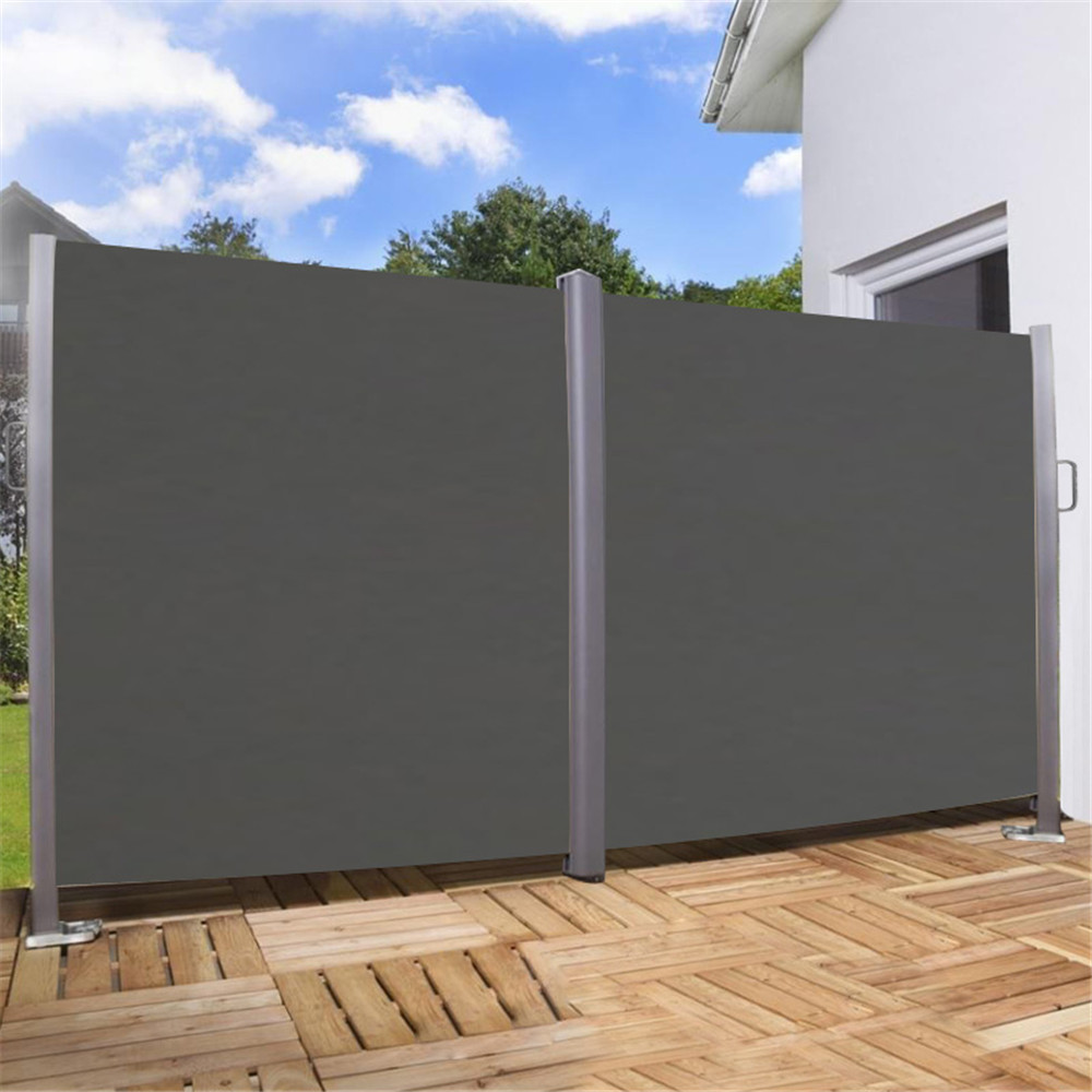 1 6x6m windschutz doppel seitenmarkise sichtschutz sonnenschutz terrasse markise ebay. Black Bedroom Furniture Sets. Home Design Ideas