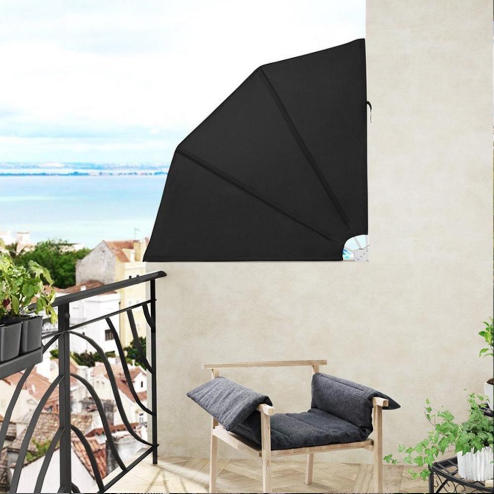 140cm balkonf cher windschutz sichtschutz markise. Black Bedroom Furniture Sets. Home Design Ideas