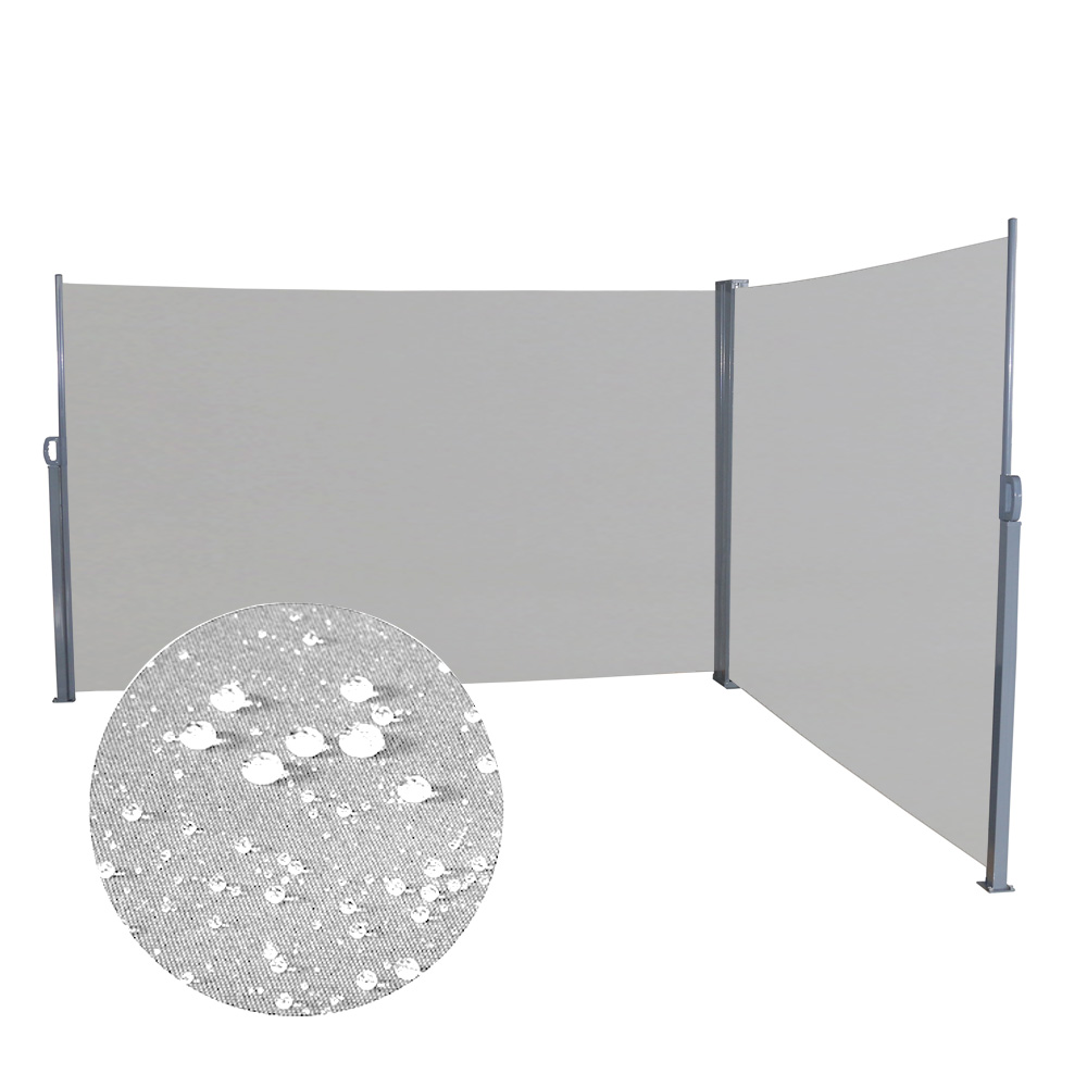 1 6 1 8 x 6m Doppel Seitenmarkise Sichtschutz Seitenrollo