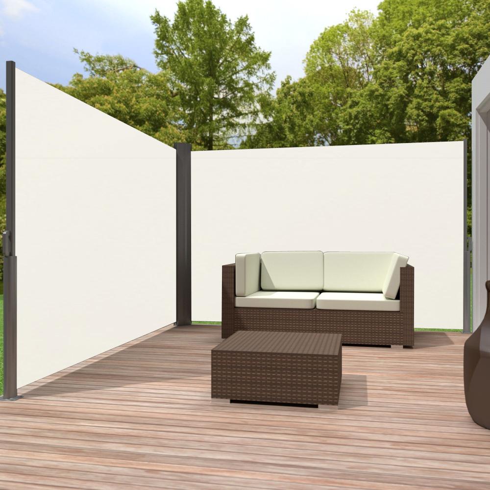 1 6 1 8 x 6m doppel seitenmarkise sichtschutz seitenrollo. Black Bedroom Furniture Sets. Home Design Ideas