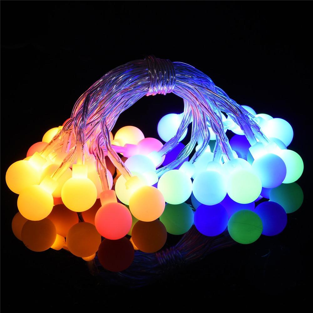 8 Modi Solar Lichterkette 30 LED Weihnachten Deko Beleuchtung Außen ...