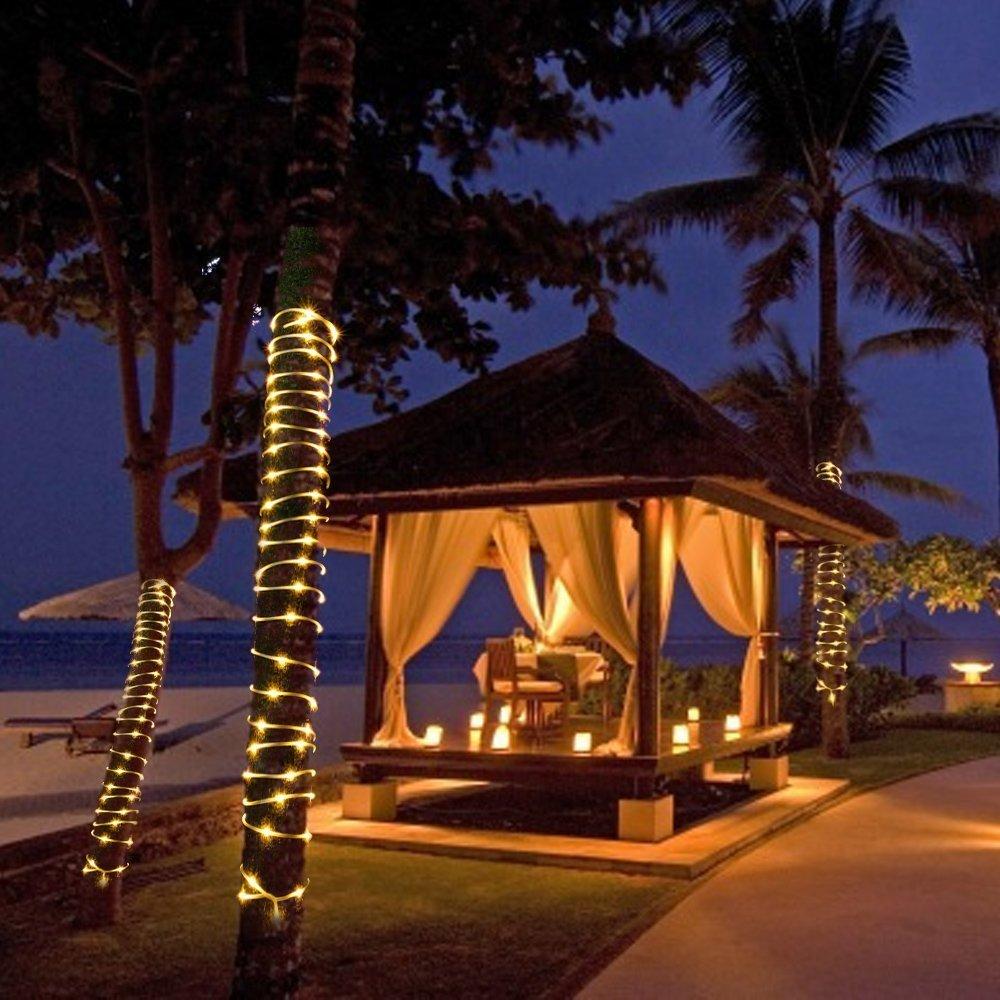 100 leds solar lichtschlauch lichterkette au enbereich weihnachten beleuchtung ebay. Black Bedroom Furniture Sets. Home Design Ideas