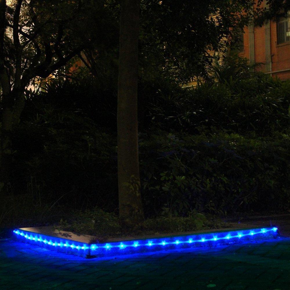 10m Solar Lichtschlauch Lichterkette Außenbereich Weihnachten Deko ...