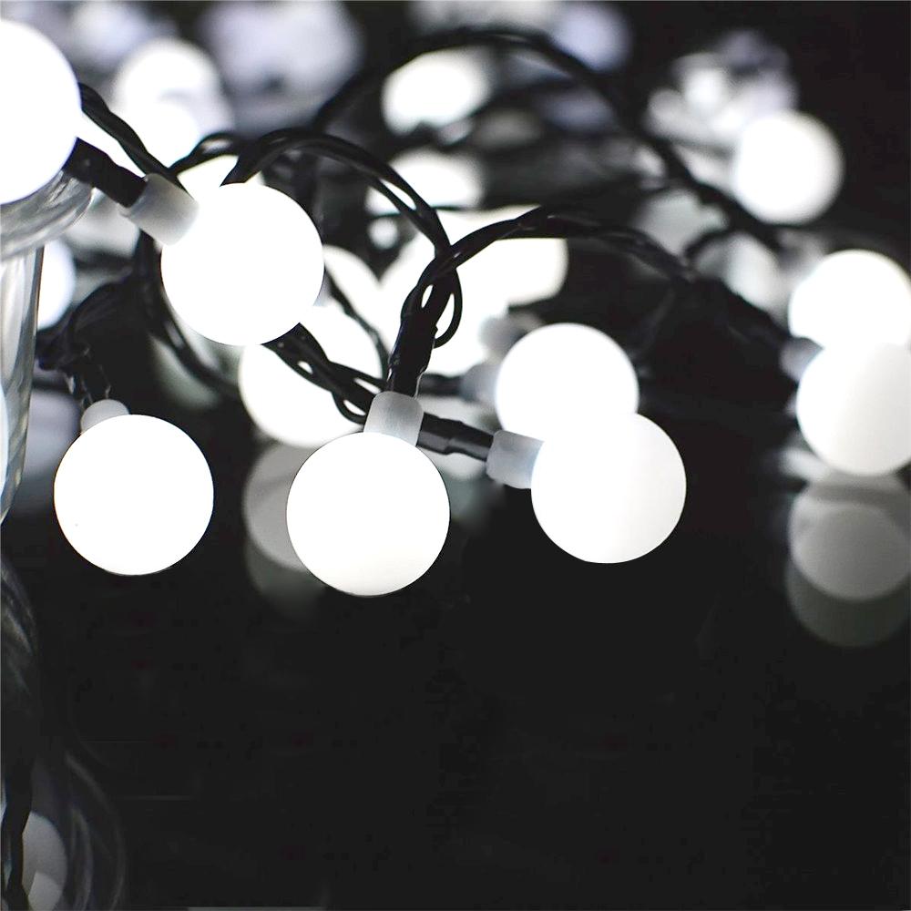 Solar Lichterkette Kugeln 30 LED Licht Weihnachten Deko Beleuchtung ...