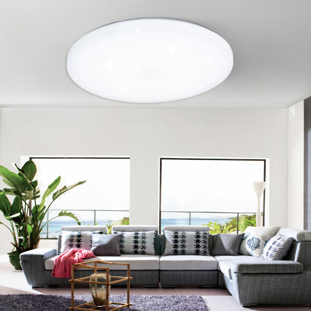 led dimmbar deckenleuchte deckenlampe effektlampe wandlampe wohnzimmer licht ebay. Black Bedroom Furniture Sets. Home Design Ideas