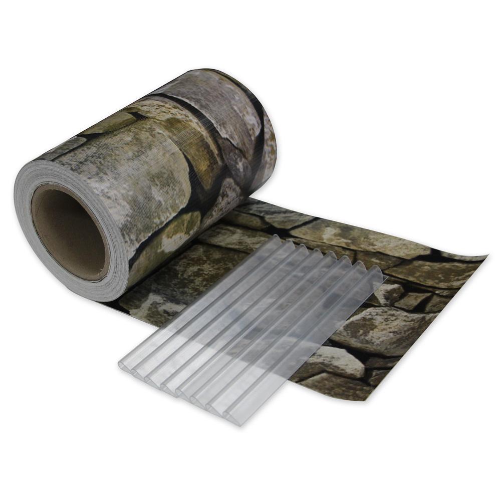 sichtschutz rolle blickdicht pvc zaunfolie windschutz f r doppelstabmatten zaun ebay. Black Bedroom Furniture Sets. Home Design Ideas