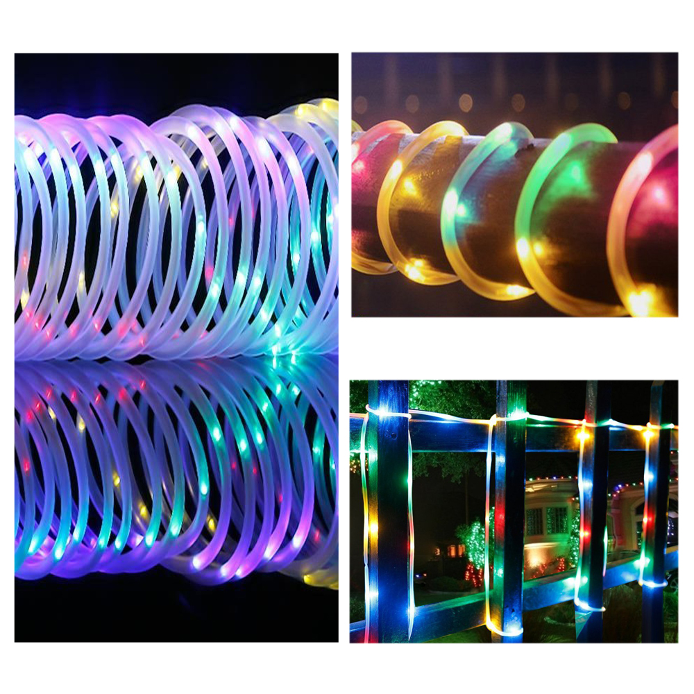 10m LED Solar Lichtschlauch Lichterschlauch Deko Lichterkette ...