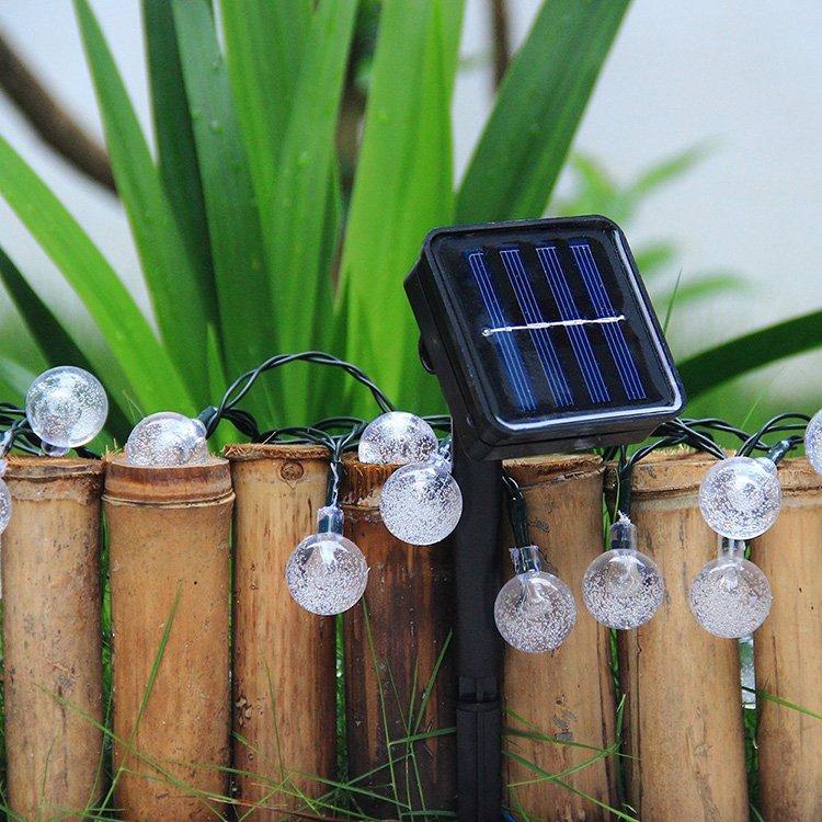 30 leds solar lichterkette deko beleuchtung kette weihnachten eishockey kaltwei ebay. Black Bedroom Furniture Sets. Home Design Ideas