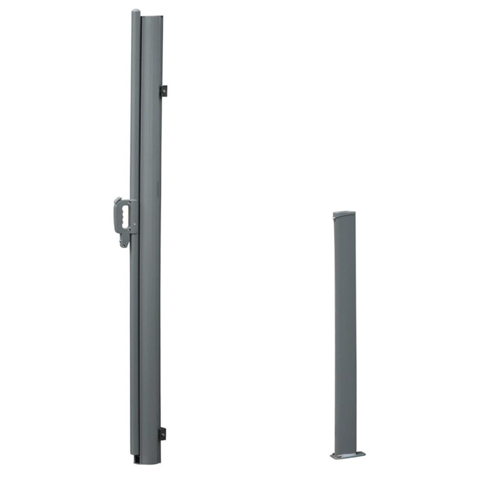 1 6x6m Windschutz Doppel Seitenmarkise Sichtschutz