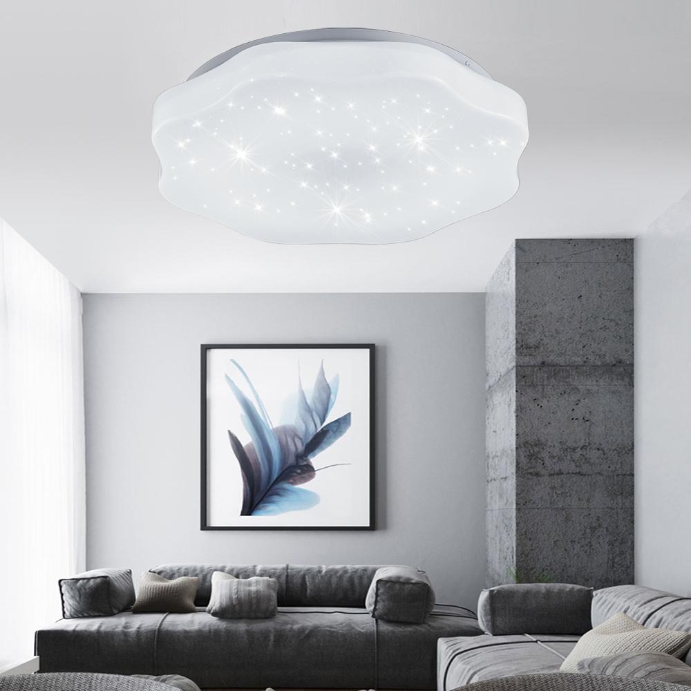 18w led kaltwei deckenleuchte beleuchtung deckenlampe sternen effektlampe k che ebay. Black Bedroom Furniture Sets. Home Design Ideas