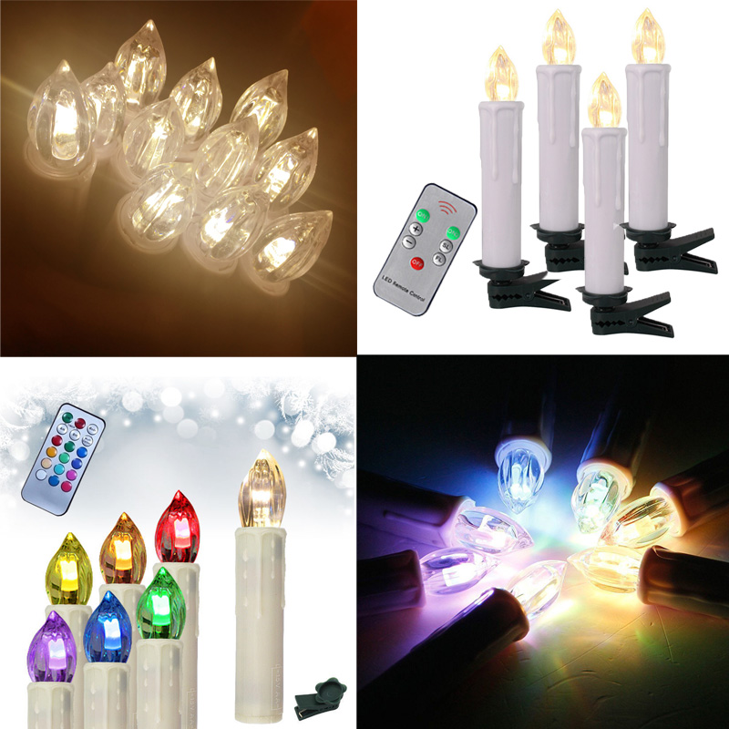 20x led weihnachtskerzen kerzen lichterkette kabellos rgb warmwei fernbedienung ebay. Black Bedroom Furniture Sets. Home Design Ideas