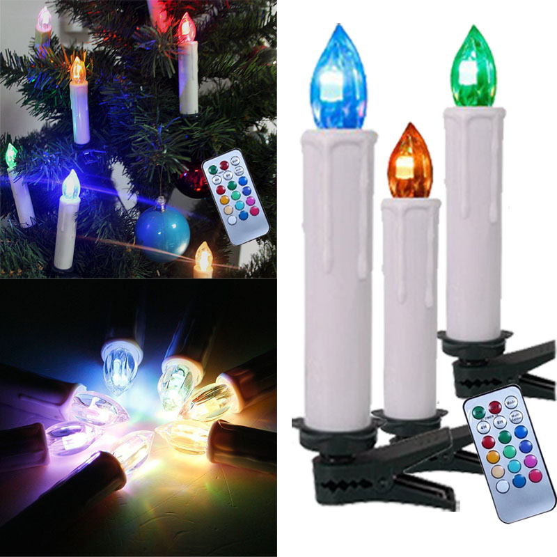 30er kabellose led weihnachtskerzen christbaum kerzen lichterkette fernbedienung ebay. Black Bedroom Furniture Sets. Home Design Ideas