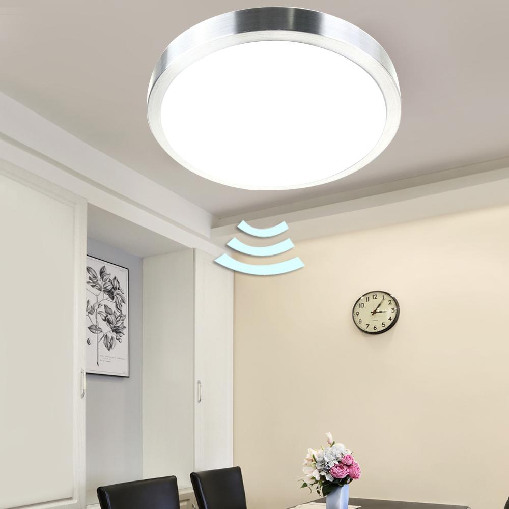 deckenleuchte led sensorlampe wandlampe flurlampe mit bewegungsmelder radar ebay. Black Bedroom Furniture Sets. Home Design Ideas