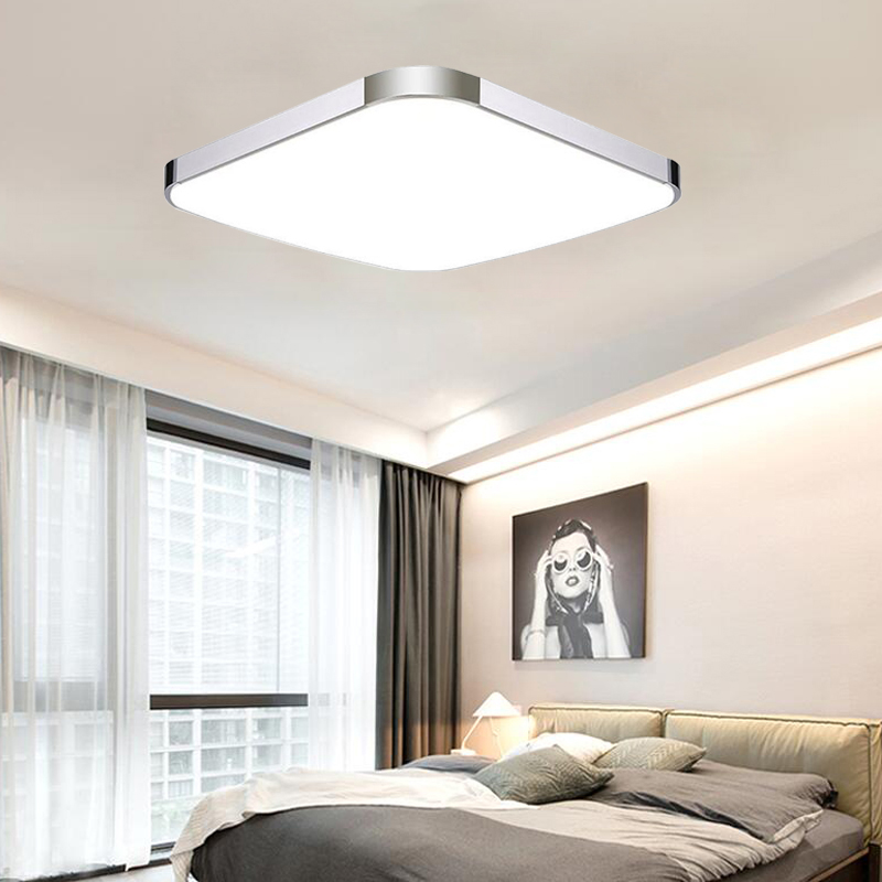 24w panel led deckenleuchte deckenlampe kaltwei wohnzimmer flur k chen lampe de ebay. Black Bedroom Furniture Sets. Home Design Ideas