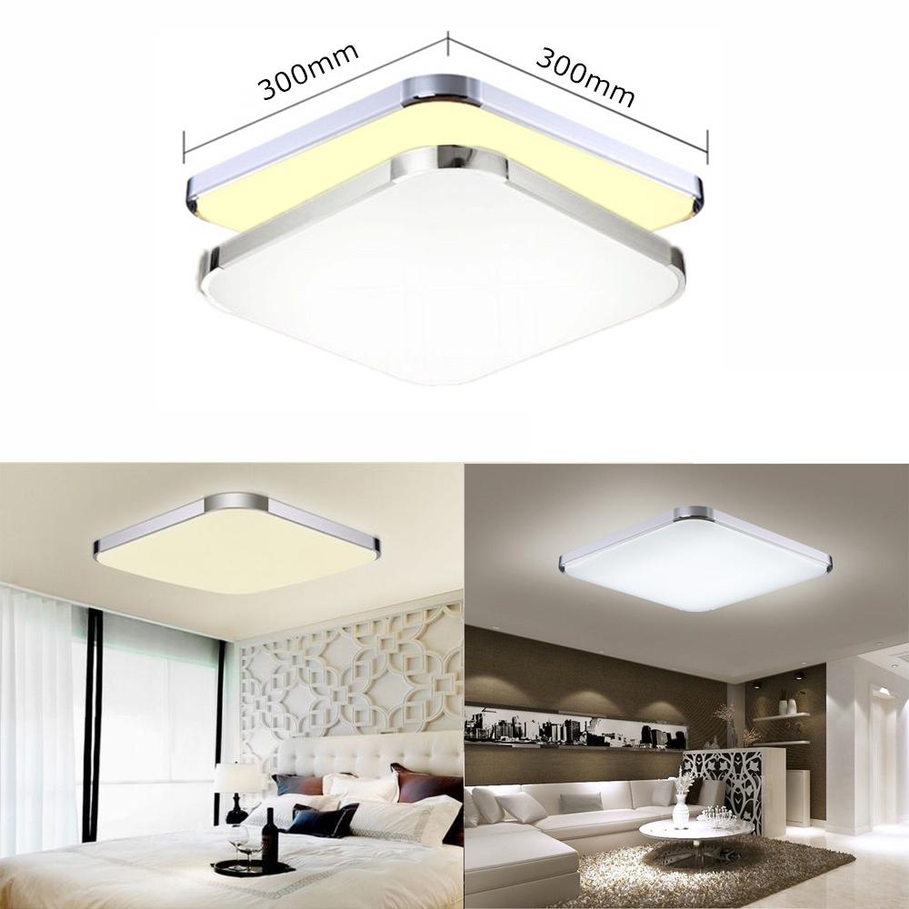 Warm 12W LED Deckenleuchte Deckenlampe Panel Innenleuchte Wohnzimmer ...